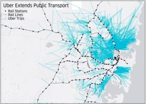 Uber extends public transport